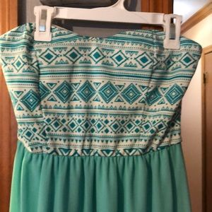 Turquoise Aztec maxi dress